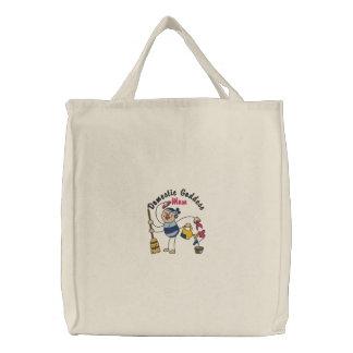 Domestic Goddess Mom Embroidered Bag