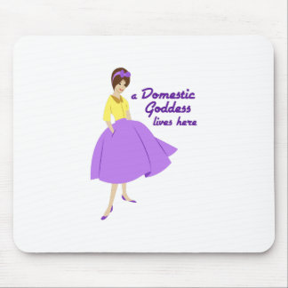 Domestic Goddess Mouse Pads