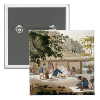 Domestic life in Kupang, Timor, plate 10 from 'Le 15 Cm Square Badge
