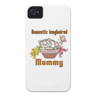 Domestic longhaired Cat Mom iPhone 4 Case-Mate Cases