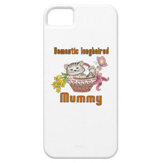 Domestic longhaired Cat Mom iPhone 5 Cover