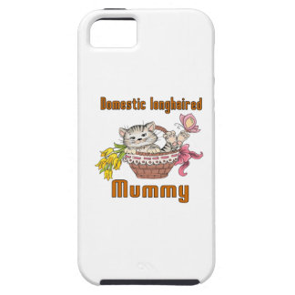 Domestic longhaired Cat Mom Tough iPhone 5 Case