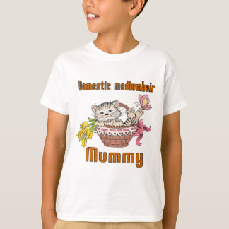 Domestic mediumhair Cat Mom T-Shirt