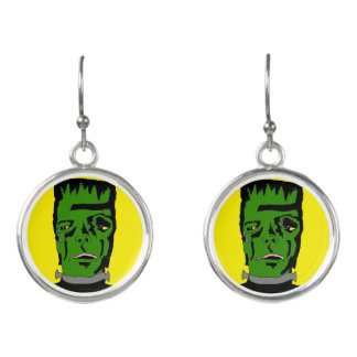 Domestic Not Basic Primitive Frankenstein Earrings
