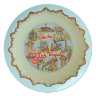 Domestic Not Basic Viva Las Vegas Melamine Plate