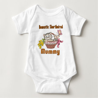 Domestic Shorthaired Cat Mom Baby Bodysuit