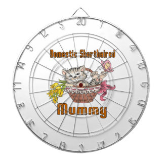 Domestic Shorthaired Cat Mom Dartboard