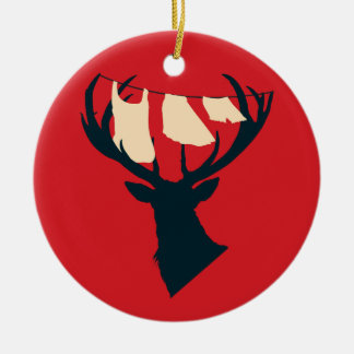Domestic Stag Ceramic Ornament