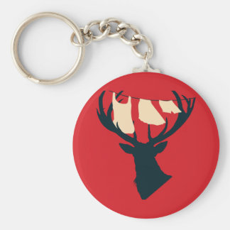 Domestic Stag Key Ring
