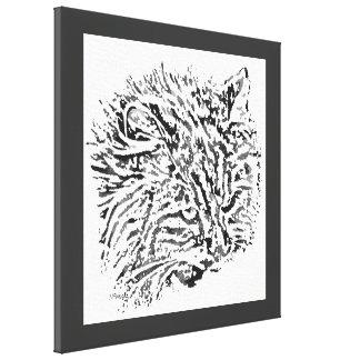 Domestic Tiger Pop Art Canvas Print Gallery Wrap Canvas
