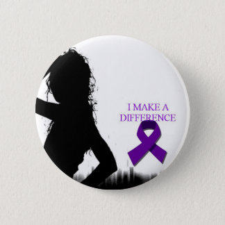DOMESTIC VIOLENCE 6 CM ROUND BADGE