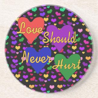 Domestic Violence Awareness Coaster