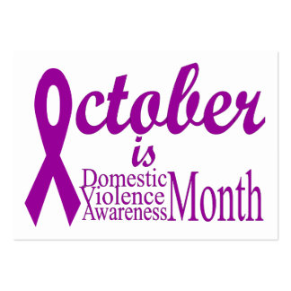 Domestic Violence Awareness Month Business Card