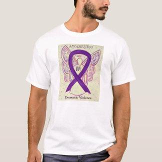 Domestic Violence Awareness Ribbon Angel T-Shirt