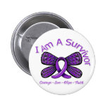Domestic Violence Butterfly I Am A Survivor Buttons