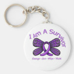 Domestic Violence Butterfly I Am A Survivor Key Chains
