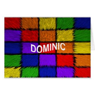 DOMINIC CARD