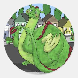 Dominic Dragon Classic Round Sticker