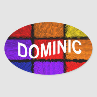 DOMINIC OVAL STICKER