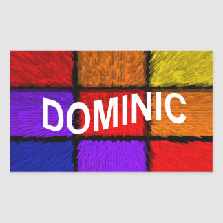 DOMINIC RECTANGULAR STICKER