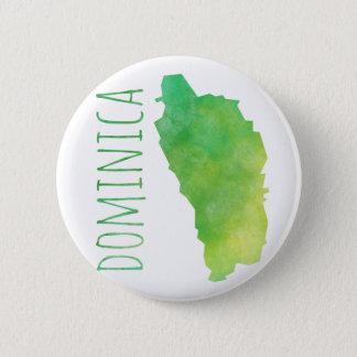 Dominica 6 Cm Round Badge