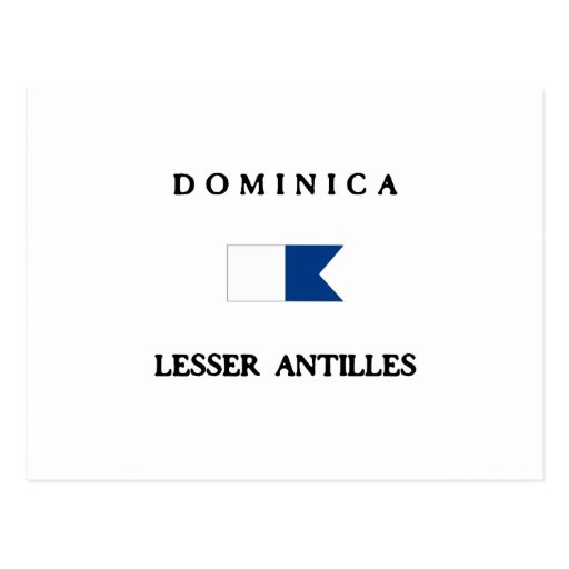 Dominica Alpha Dive Flag Post Cards