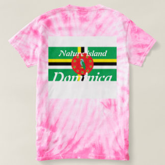 Dominica / American Flag tie dye T-shirt