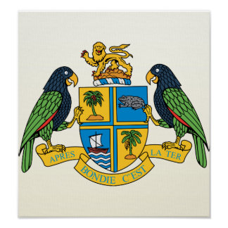 Dominica Coat of Arms detail Print