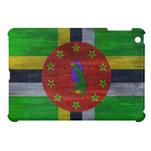 Dominica distressed flag iPad mini case