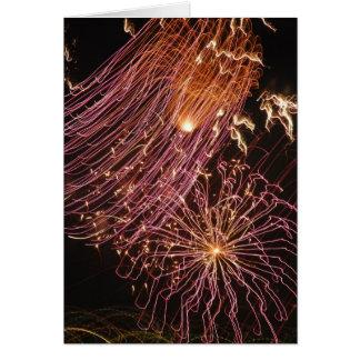 Dominica Fireworks III Greeting Card