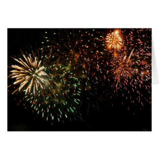 Dominica Fireworks V Greeting Cards
