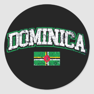 Dominica Flag Classic Round Sticker