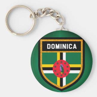 Dominica Flag Key Ring