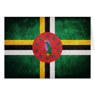 Dominica Flag Note Card