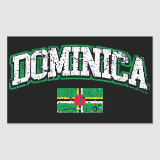Dominica Flag Rectangular Sticker