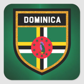 Dominica Flag Square Sticker