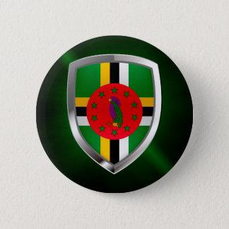Dominica Mettalic Emblem 6 Cm Round Badge