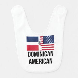 Dominican American Flag Baby Bib