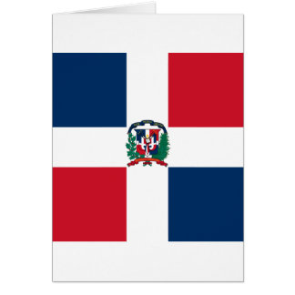 Dominican flag all over design card