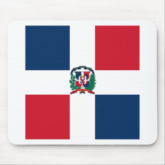 Dominican flag all over design mouse pad