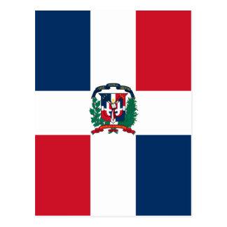 Dominican flag all over design postcard