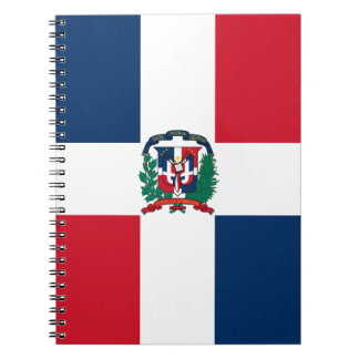 Dominican flag all over design spiral note book