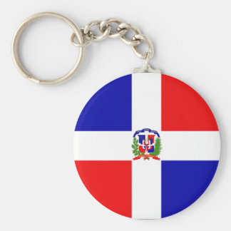 Dominican Flag Key Ring