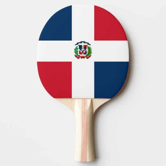 Dominican Flag Ping Pong Paddle