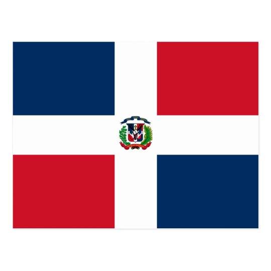 Dominican Flag Postcard