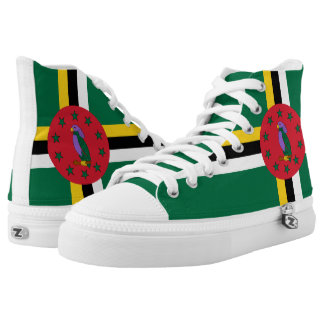 Dominican flag printed shoes