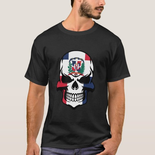 Dominican Flag Skull T-Shirt