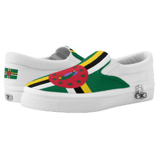 Dominican flag slip on shoes