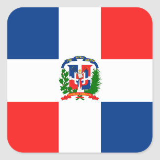Dominican Flag Square Sticker
