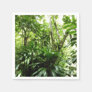 Dominican Rain Forest I Tropical Green Nature Disposable Serviettes